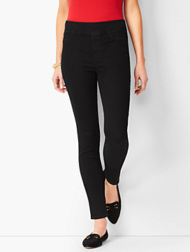 Sculpt Stretch Pull-On Denim Jeggings - Black