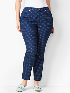 Slim Ankle Jeans - Curvy Fit -Polka Dot