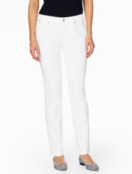 The Flawless Five-Pocket Straight Leg Jean - White
