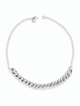Sterling Silver Sculpted Collar