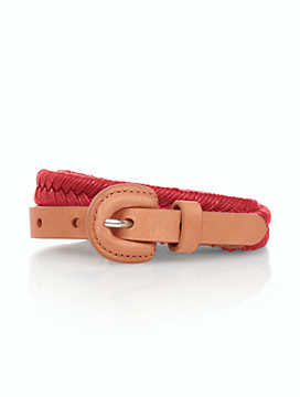 Womans Braided Rope Belt