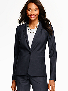Seasonless Wool Single-Button Blazer - Long-Length