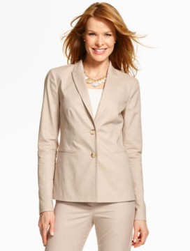 Summer Cotton Double-Button Blazer