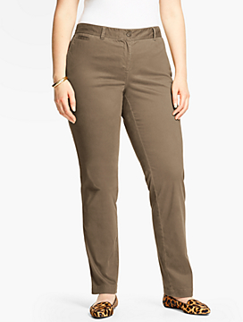 Peached Sateen Chino