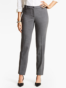 Talbots Hampshire Ankle Pant-CurvyFit/Crepe-Shadow Heather