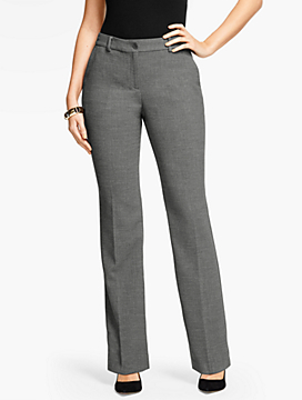 Talbots Raleigh Pant-Curvy Fit/Double Crepe/Shadow Heather
