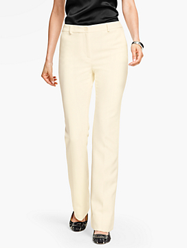 Talbots Raleigh Pant-Double Weave/Ivory