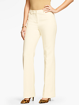 Talbots Raleigh Pant-Curvy Fit/Double Weave/Ivory
