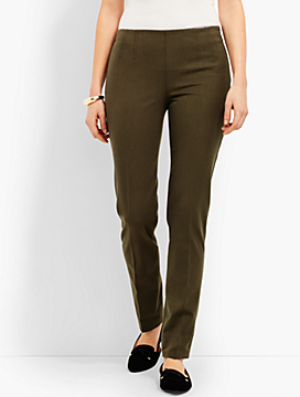 Refined Bi-Stretch Side-Zip Straight-Leg