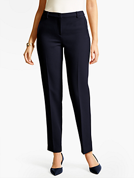 Talbots Hampshire Ankle Pant-Curvy Fit/Double Weave