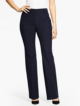 Talbots Raleigh Pant-Curvy Fit/Double Weave