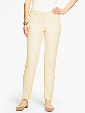 Talbots Hampshire Ankle Pant  - Curvy Fit/Double Weave