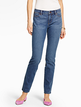 The Flawless Five-Pocket Slim Ankle-Lagoon Wash