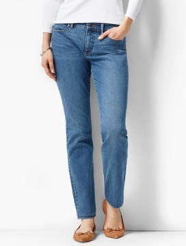 The Flawless Five-Pocket Slim Ankle-Curvy/Lagoon Wash