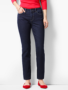 The Flawless Five-Pocket Slim Ankle-Curvy Fit/Quay Wash