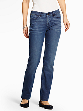 The Flawless Five-Pocket Straight-Leg-Curvy Fit/Seaside Wash