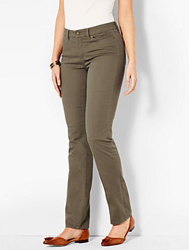 The Flawless Five-Pocket Straight-Leg-Curvy Fit/Color