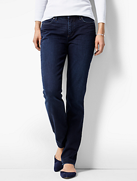 The Flawless Five-Pocket Straight-Leg-Curvy Fit/Portside Wash
