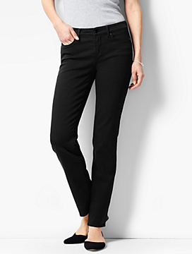 The Flawless Five-Pocket Slim Ankle-Curvy Fit/Black