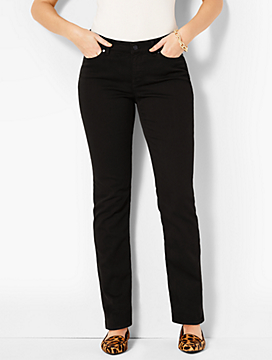 The Flawless Five-Pocket Straight-Leg-Curvy Fit/Black