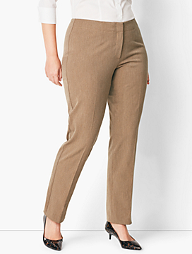 Womans Exclusive Refined Bi-Stretch Tailored Straight-Leg