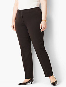 Plus Size Exclusive Refined Bi-Stretch Tailored Straight-Leg