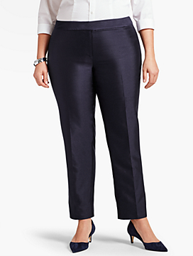 Womans Doupioni Tailored Ankle Pant