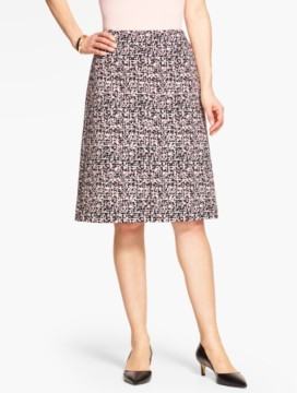 Abstract Jungle-Jacquard Skirt