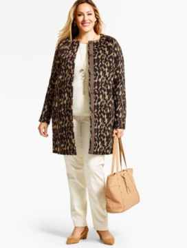 Animal-Print Coat Topper