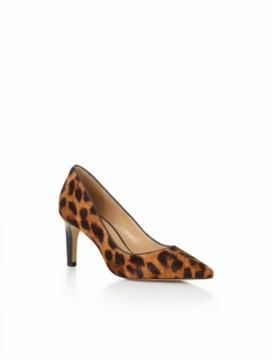 Eri Pointy-Tie Pumps - Leopard Haircalf