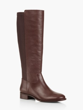 Tish Pebbled Leather & Stretch Riding Boots