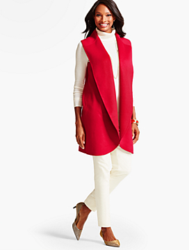 Shawl-Collar Coat Vest