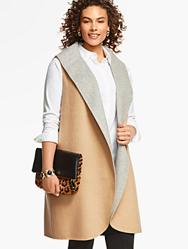 Womans Shawl-Collar Coat Vest