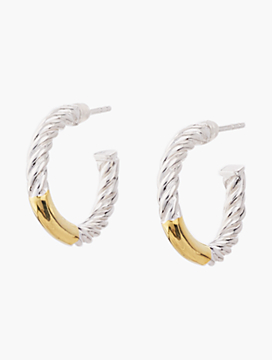 Sterling Silver Half-Hoop Rope Earrings
