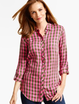 The Long Drapey Shirt-Westgate Checks