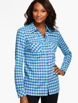 The Longer Casual Shirt - Cornwell Plaid