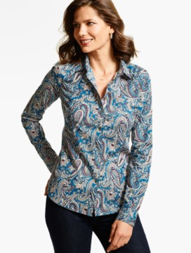 The Perfect Long-Sleeve Shirt - Delicate Paisley
