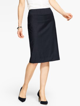 Seasonless Wool Pencil Skirt - Long-Length