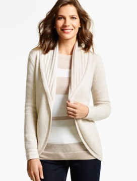Shawl-Collar Cocoon Cardigan