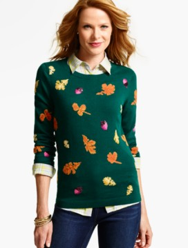 Falling Leaves Intarsia Sweater