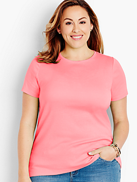 Pima Cotton Short-Sleeve Crewneck -The Talbots Tee