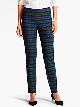 Blackwatch Plaid Tailored Ankle Pant