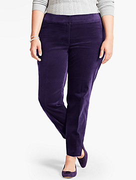 Womans Talbots Hampshire Ankle Pant-Velveteen