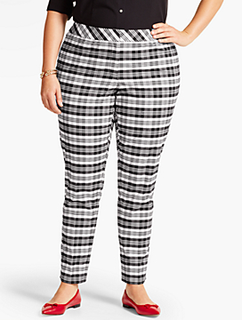 Womans Sutton Plaid Tailored Ankle Pant