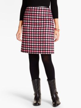 Bright Plaid A-Line Skirt