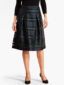 Sheer Illusion-Stripe Skirt