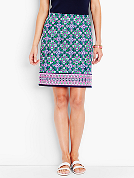 Roxbury Medallion A-Line Canvas Skirt