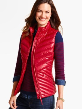 Cire Chevron-Quilted Puffer Vest
