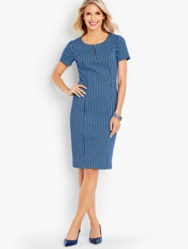 Dots & Oval-Links Sheath Dress