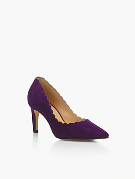 Eri Scalloped Suede Pumps